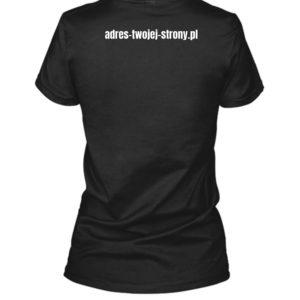 koszulka z adresem strony